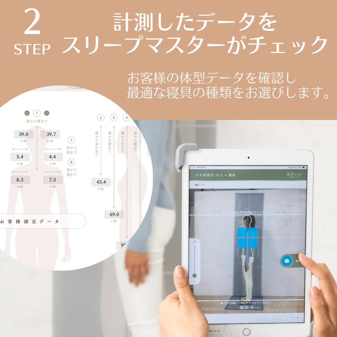 ステップ2測定したデータをスリープマスターがチェック